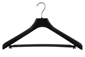 Suit hanger with bar and anti-slipping sponge